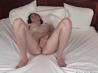Busty Yanks Camille R. Masturbating