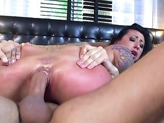Tattooed Lily Lane anal fucked in extreme manners