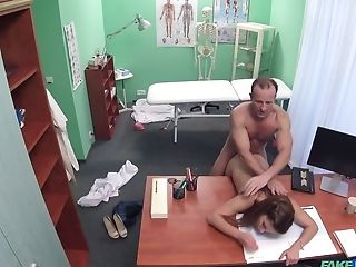 Kinky doctor savors a young patient's hot body and tight pussy