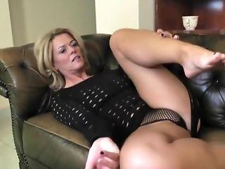A Blonde Mature Woman Masturbates