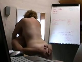 Mature co-worker riding hard dick in a cowgirl position