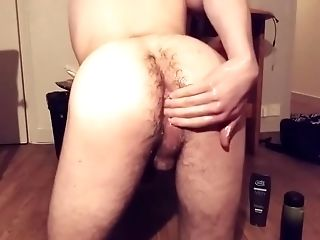 Young wet guy playing with toys, punch fisting  and  prolapse