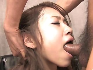 Hot chick Iori Mizuki ravished by a couple of engorged love rods
