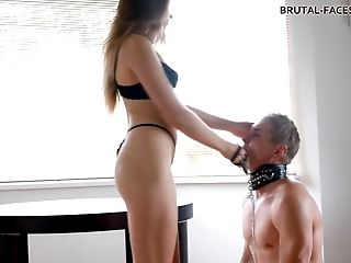 Is the servant ready to give an oral pleasure to his mistress?