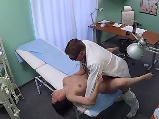 Sexy Daphne Klyde's doctor dicking is secretly recorded