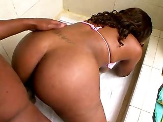 Tall ebony honey Sasha Royce has great curves and she likes it from behind