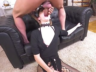 Aroused chick feels it in the ass deeper than ever