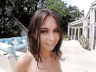 Natural slender bikini hottie Riley Reid is actually happy to ride strong cock