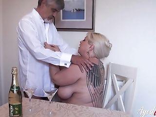 Sexy BBW Gina George enjoys having crazy sex fun with new lover