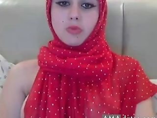Arab, Babe, Horny, Masturbation, Model, Natural Tits, Panties, Solo, Stranger, Striptease,