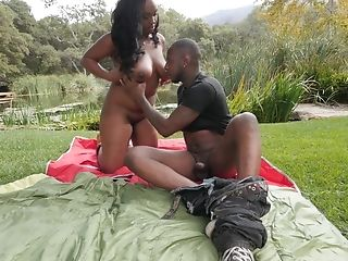 Layton Benton has a blast while having sex in a garden