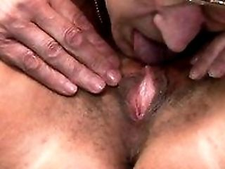 Two nasty Russian grannies pleasure each other with tongue and fingers in bed