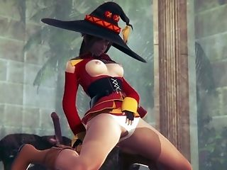 [KONOSUBA] Megumin loves to dominate you (3D PORN 60 FPS)