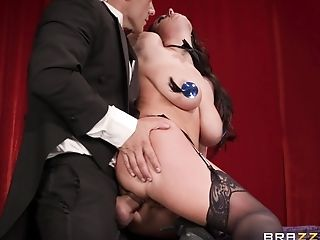 Angela White is a greedy babe who wants a big dick for herself