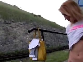 PublicAgent She gets spit-roasted outdoors to get reality TV job