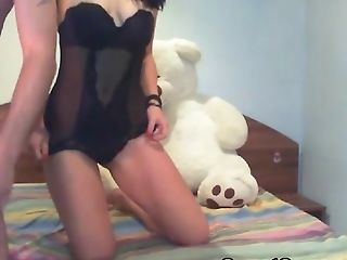 Babe, Blowjob, Brunette, Couple, Hardcore, Long Hair, Natural Tits, Webcam, Wet,