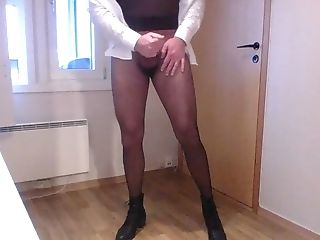JOI in my seamless black sexy pantyhose