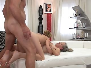 Sex-hungry young chick Tricia Teen and old bitch Elisa are fucked by Rocco Siffredi