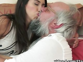 Crazy pornstars Albert, Frida Sante in Hottest Oldie, Cumshots xxx clip